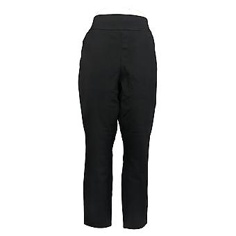 Susan Graver Petite Leggings Petite Premium Stretch Ankle Black A382213