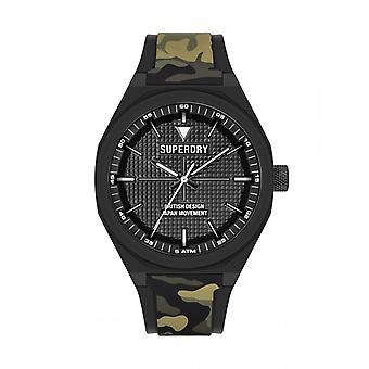 Herreur Superdry SYG324BN - Sort silikone armbånd