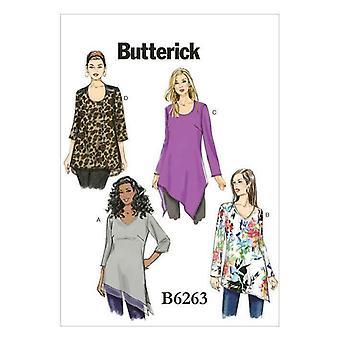 Butterick نمط الخياطة 6263 المرأة يفتقد التوابل غير المتماثلة 26W-32W Uncut