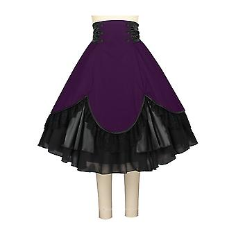Chic Star Plus Size Gothic Victorian Skirt In Purple