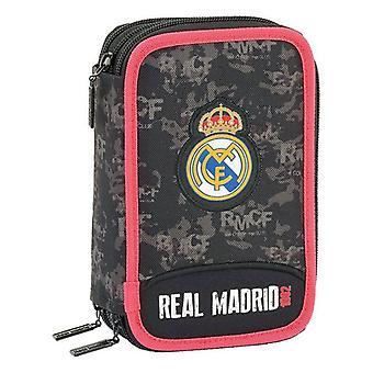 Triple Pencil Case Real Madrid C.F. Black (41 Pieces)