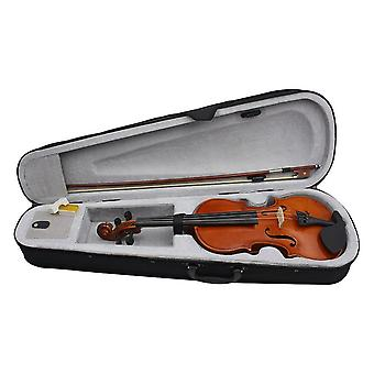 Solid Wood Violin Fiddle For Beginner With Case Rosin