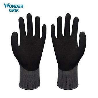 Wonder Grip Garden Safety Glove Nylon With Nitrile Sandy Coated Work Glove Abrasion-proof Universal Working Gloves