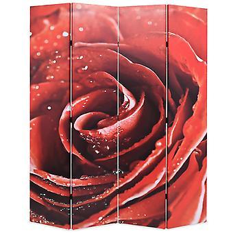 vidaXL huoneenjakaja taitettava 160 x 170 cm Ruusunpunainen