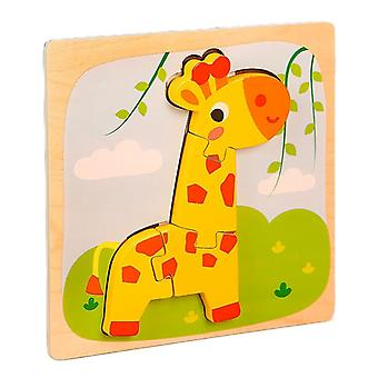 3D Puzzles Spielzeug Kinder intellektuelle Bildung Puzzle Geschenk Giraffe pt89