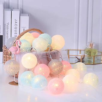 FengChun LED Kugel Lichterkette Baumwollkugeln, 6CM 20 LED Cotton Ball Lichter Batteriebetrieben mit