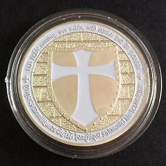 Ritter Templer - breite Kreuz Schild weiße Münze