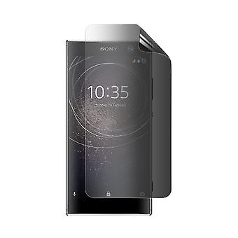 Celicious Privacy 2-Way Anti-Spy Filter Screen Protector Film Compatible with Sony Xperia XA2