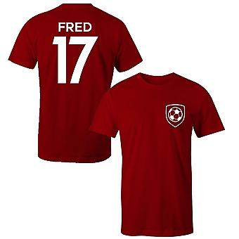 Fred 17 manchester united style player t-shirt