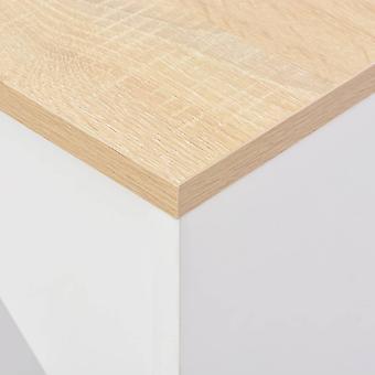 vidaXL Bar tafel met beweegbare plank Wit 138 x 40 x 120 cm