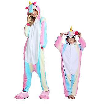 Regenboghorn Colorido Pegasus Traje Unicornio Pijama Onesie Kigurumi Mono