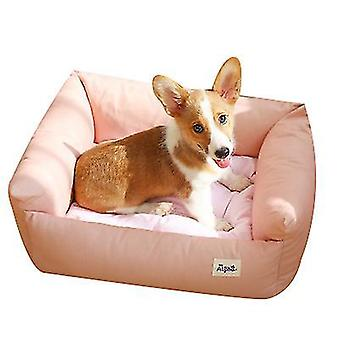 M rosa kjæledyr myk liten hund bedrectangle bomull hundeseng for små hunder x5244