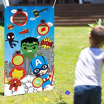 Outdoor Games Superhero Toss Throwing Game 4 Bean Bags Indoor Superhero Party
