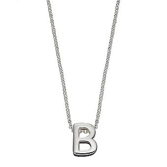 Начальный B Простой серебристый Начальный ожерелье N4429