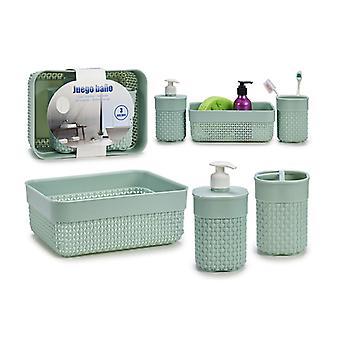 Set Set 3 stuks badkamer, decoratieve opslag, groen