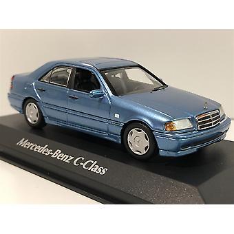Maxichamps 940037060 Mercedes Benz C Class 1997 Blue Metallic 1:43 Scale