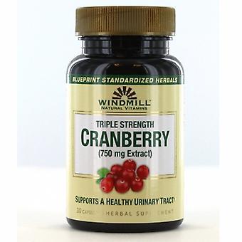 Windmill Health Triple Strength Cranberry, 750 mg, 30 Tabs
