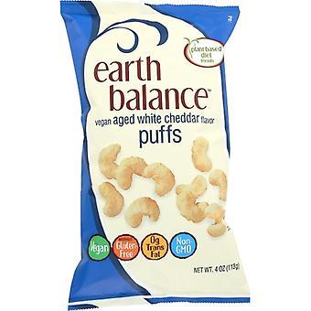 Earth Balance Puffs Wht Chdr Vegan, Koffer van 12 X 4 Oz
