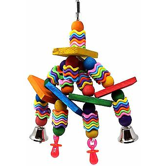 Bird Parrot Wood Chewing Foraging Toys Hanging Toy Parrot