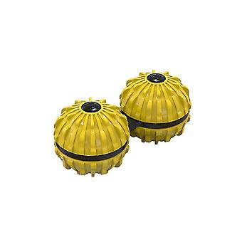 Yellow 7.2*3.6cm two in one massage spinning top homi4185