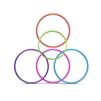 Copoz 7 noduri pliabile Hula Hoop 65cm Fitness Exercitarea Gym Antrenament Hoola pentru copii (roz)