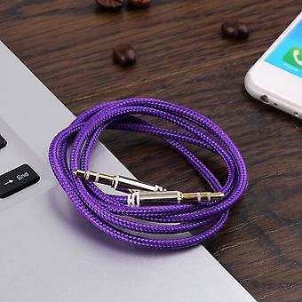 1m Braided Woven 3.5mm Male To Male Aux Audio Headphone Cord Cable New