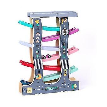 Ramp Race Track Zabawki z drewnianymi mini samochodów dla dzieci i małych dzieci (GROUP2)