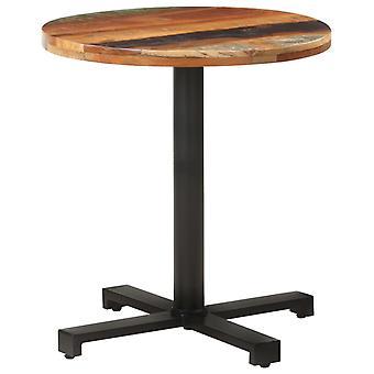 """שולחן ביסטרו vidaXL עגול Ø70x75 ס""""מ עץ ממוחזר מוצק"""