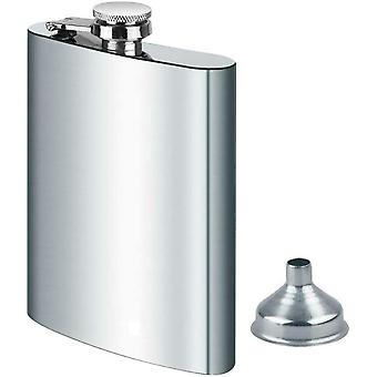 Stainless Steel Hip Flask & Funnel 8oz 227ml,for Carrying Alcohol