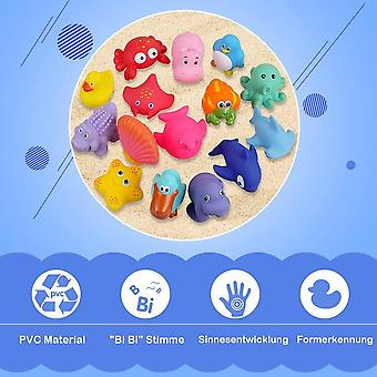 Badespielzeug Badewannenspielzeug Baby 15 Stücke Kinder Badewannen Spielzeug Badespielzeug Set Baby