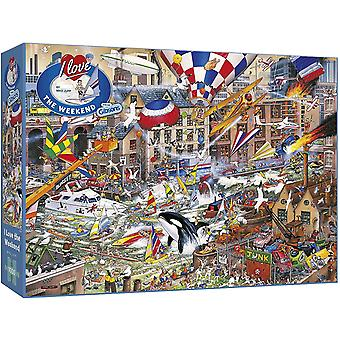 Gibsons I Love The Weekend Jigsaw Puzzle (1000 Pièces)
