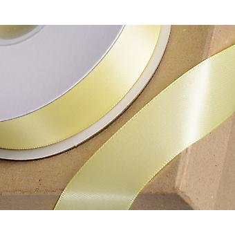 25m Geel 6mm breed satijnen lint voor ambachten