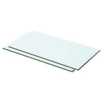 vidaXL hyllyt 2 kpl. lasi Läpinäkyvä 50 x 20 cm