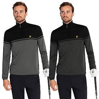 Lyle & Scott Mens Croft Resistente à Água 1/4 Suéter zip golf