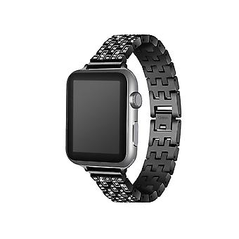 Stylish Shiny Steel Belt Solid Stainless Steel Chain Strap Steel Strap for Apple Watch5 4 3 2