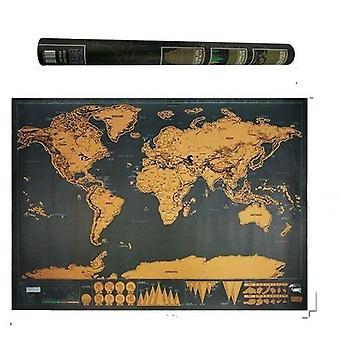 Deluxe sort dekoration verdenskort