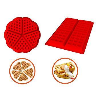 Silicone Waffle Pan Mold Strumento di cottura fai-da-te per torta cioccolato biscotto stampo