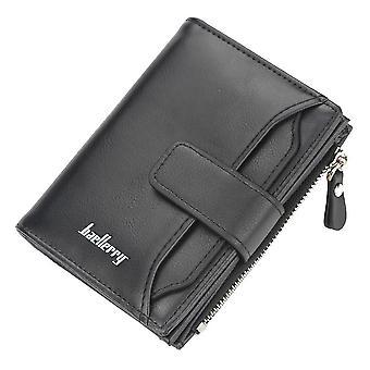 Kort lommebok, glidelås, flerfunksjons lommebok, flerkorts myntveske