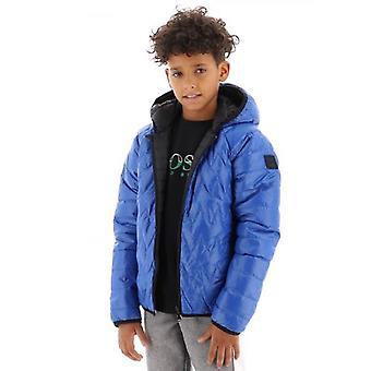 BOSS Kids Sininen käännettävä puffer takki
