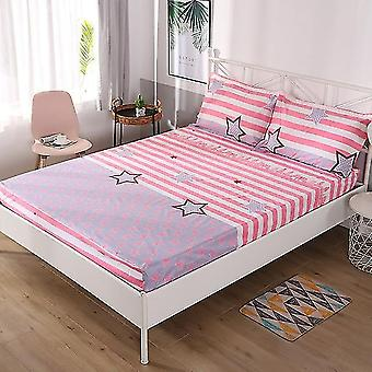 Soft Breathable Waterproof Bed Sheet With Elastic Band Fashion Printing Anti