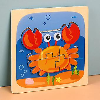 Cartoon early education 3d jigsaw puzzles toy puzzle animal children toys