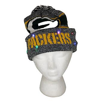 NFL Green Bay Packers LED Lighted Stripe Beanie Gray Knit Chapeau d'hiver A371654