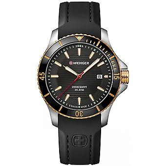 Wenger Black Silicone 01.0641.126 Reloj de Hombre
