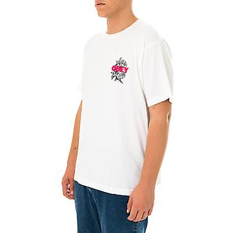T-shirt uomo obey blood and roses organic tee 163002554.wht