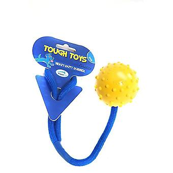 Dog toys tough toy' floating rope ball studded 5cm 2'' pack of 4