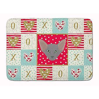 Bath mats rugs oriental shorthair cat love machine washable memory foam mat