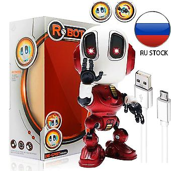 Digital cameras charging robots toys mini talking toy for children humanoid robot toy inductive|rc robot red
