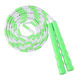 Jump ropes kids soft beaded jump ropes tangle-free segmented jumping rope for children and