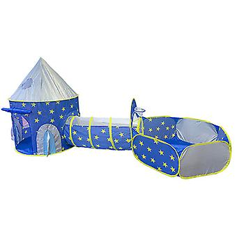 Fairy Tale Castle Play Tent, Crawl Tunnel And Ball Pit