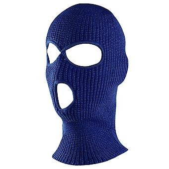 3 Hole Knit Ski Mask Full Face Cover For Outdoor Sports Warm Soft